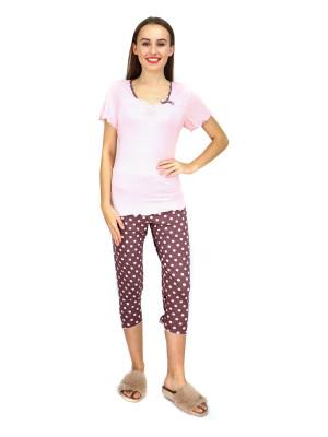 Dámské pyžamo 570-KK růžovohnědá - Cocoon Secret růžovo-hnědá