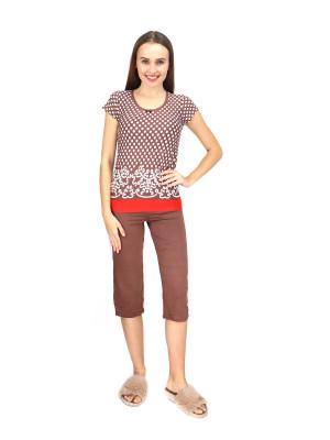 Dámské pyžamo 746-KK hnědá - Cocoon Secret hnědá