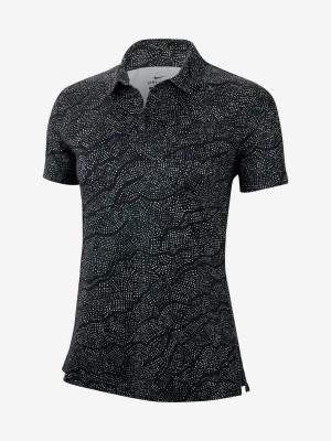 Tričko Nike W Nk Dry Uv Ss Fwy Polo Ho Prt Olc Černá