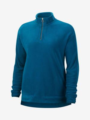 Tričko Nike W Nk Thrma Vctry Hz Mdlyr Olc Modrá