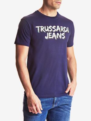 Tričko Trussardi T-Shirt Cotton Jersey Regular Fit Modrá