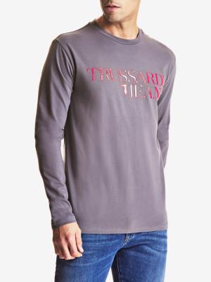 Tričko Trussardi Long Sleeves T-Shirt Jersey Stretch Regular Fit Šedá