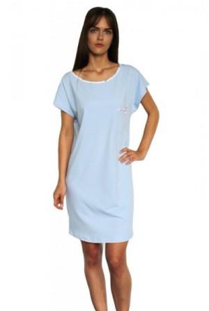 De Lafense Maribell 433 noční košile XL modrá