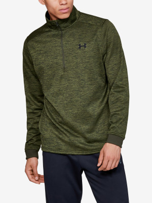 Tričko Under Armour Fleece 1/2 Zip-Grn Zelená