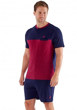 Pánské pyžamo Fordville MN000237 XXL Tm. modrá