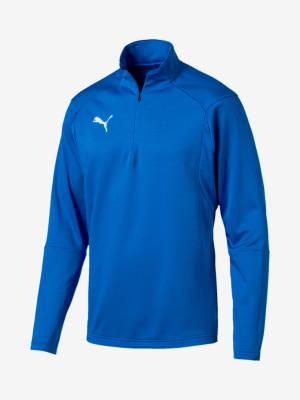 Tričko Puma Liga Training 1 4 Zip Top Modrá