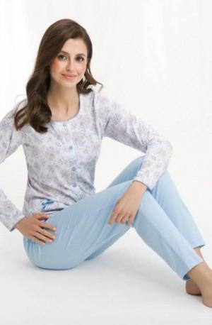 Luna 456 Dámské pyžamo XXL modrá