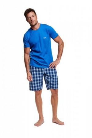 Henderson 37758 Vine Pánské pyžamo XXL modrá-kostka