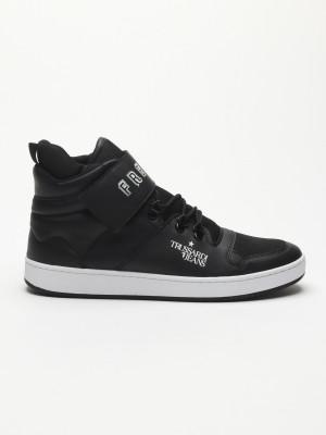Boty Trussardi Sneakers Synthetic Printed Strap Černá