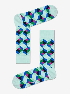 Ponožky Happy Socks Optiq Square Sock S-M (36-40) Barevná