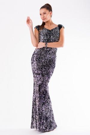 Dlouhé šaty model HM2152 - YourNewStyle stříbrná