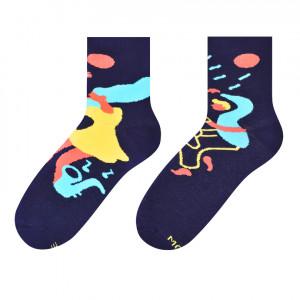 Dámské asymetrické ponožky 078  tmavě modrá/JACK&JILL 39/42