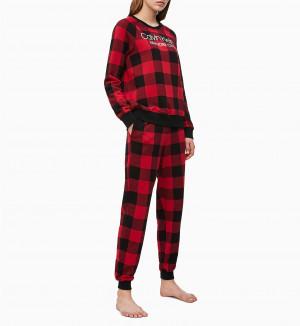 Dámské tepláky QS6302E-5VJ černočervená - Calvin Klein černo-červená