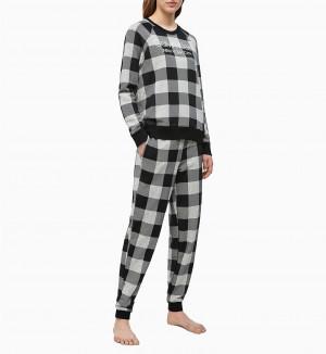Dámské tepláky QS6302E-2ZJ šedočerná - Calvin Klein šedo - černá