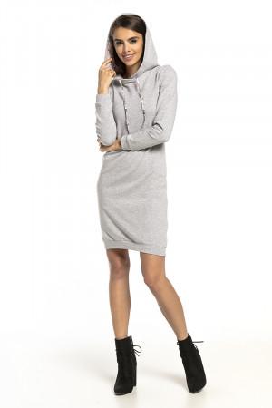 Denní šaty T293 - Tessita  šedá melange