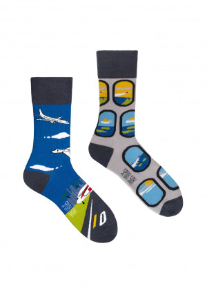Ponožky Spox Sox - Letadla  multikolor 36-39