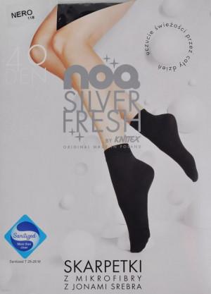 Ponožky z mikrovlákna s ionty stříbra  černá uni velikost