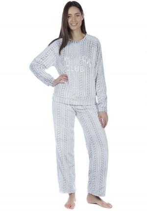 Dámské pyžamo Fordville LN000802  M/L Šedá