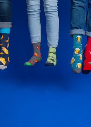 Pánské ponožky YO! Spoksy SK-54  modrá žíhaná 39-42