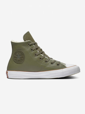 Boty Converse Chuck Taylor All Star Faux Shearling Zelená