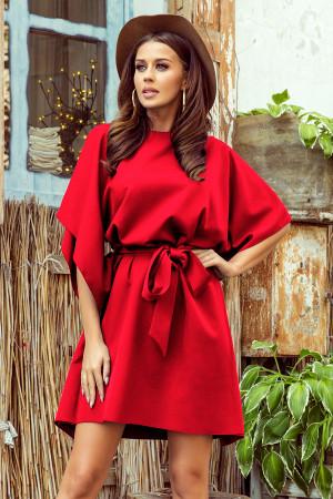 SOFIA - Červené dámské motýlkové šaty 287-3  S/M