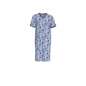 Pánská noční košile 6998-253 modrá - Vamp modrá