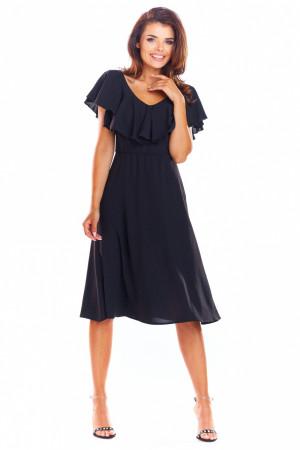 Dámské šaty A304 - Awama  černá S-36