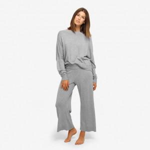 Dámské tričko na spaní QS6275E-020 šedá - Calvin Klein šedá