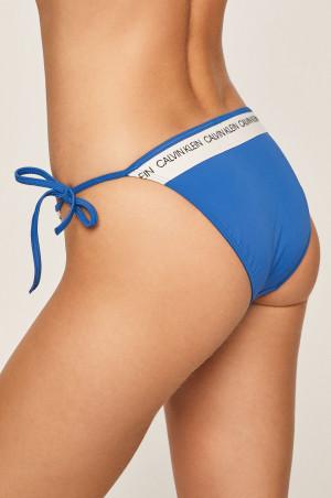 Spodní díl plavek KW0KW00650-CHQ modrobílá - Calvin Klein modro-bílá