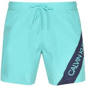 Pánské plavky KM0KM00384-LA5 zelená - Calvin Klein zelená