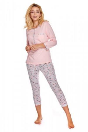 Betina Casablanca 562 Dámské pyžamo L růžovo-krémová