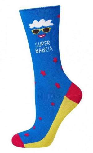 Soxo Good Stuff 3139 unisex ponožky 35-40 světle modrý melanž