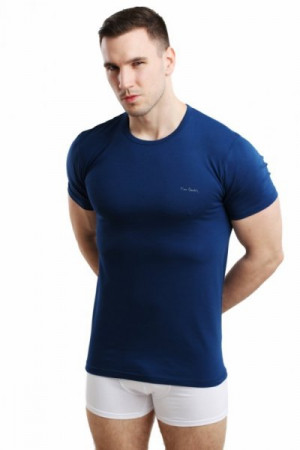 Pierre Cardin Rneck tmavě modrý Pánské triko XXL tmavě modrá