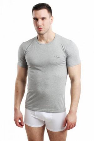 Pierre Cardin Rneck šedý Pánské triko XXL  šedá