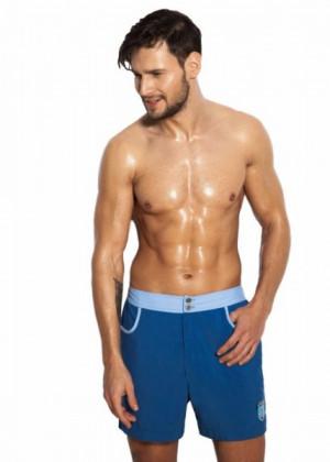 Pánské šortky Alpha Male Surfo blue S modrá