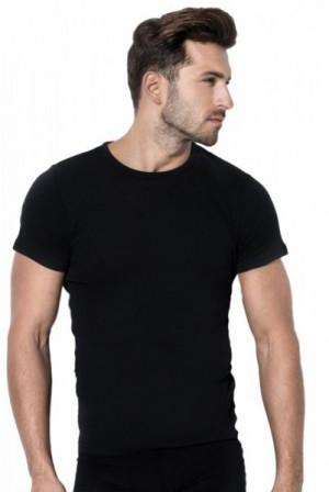 Pánské tričko Rossli MTP 001 krátký rukáv černá XL černá