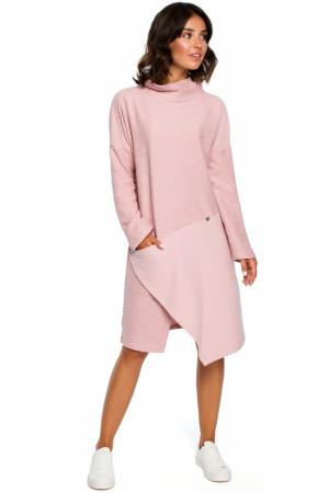 Dámské šaty B098 - BEwear  staro-růžová 2XL/3XL