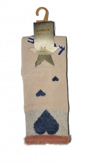 Ponožky Cosas LM-2/3 Love béžová 39-41