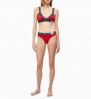 Podprsenka bez kostice QF5447E-3YQ červená - Calvin Klein červená