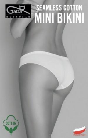 Gatta Seamless Cotton Mini Bikini 41595 dámské kalhotky S black/černá
