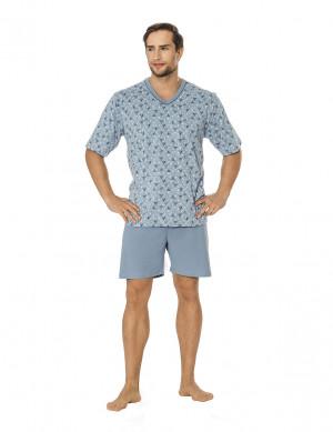 Pánské pyžamo Luna 793 4XL kr/r modrá 4XL