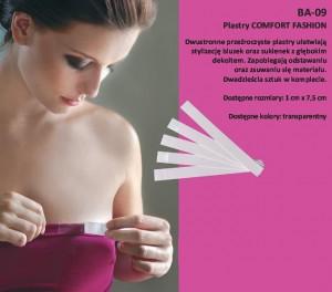 Julimex Comfort Fashion BA 09 10mm A'20 Dvoustranné průsvitné náplasti 10mm transparentní
