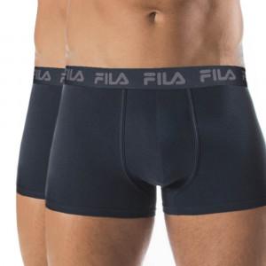 2-pack tmavě modrých boxerek s tmavě modrou gumou FILA