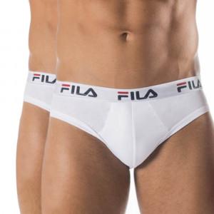 2-pack bílých slipů FILA