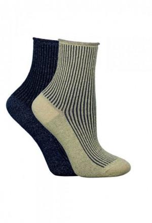 Syntex Chili Sk-0784 Lurex dámské ponožky 39-42 tmavě modrá