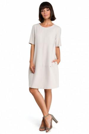Dámské šaty B082 - BEwear  bežová(oříšková)