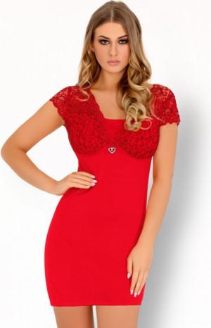 Pohodlná košilka Mishkata červená - LivCo Corsetti červená S/M