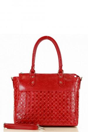 Dámská přírodní kožená kabelka model 137026 - Mazzini  bordo uni