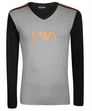 Pánské tričko 111855 9A529 06749 černošedá - Emporio Armani černo-šedá