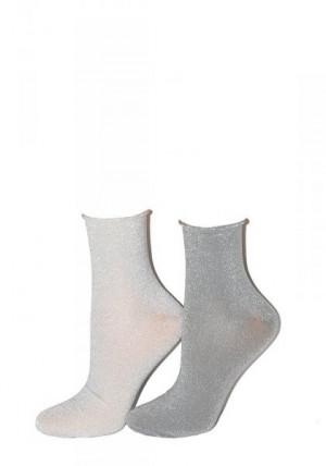 Steven art.158 Lurex Dámské ponožky 35-37 tmavě šedá